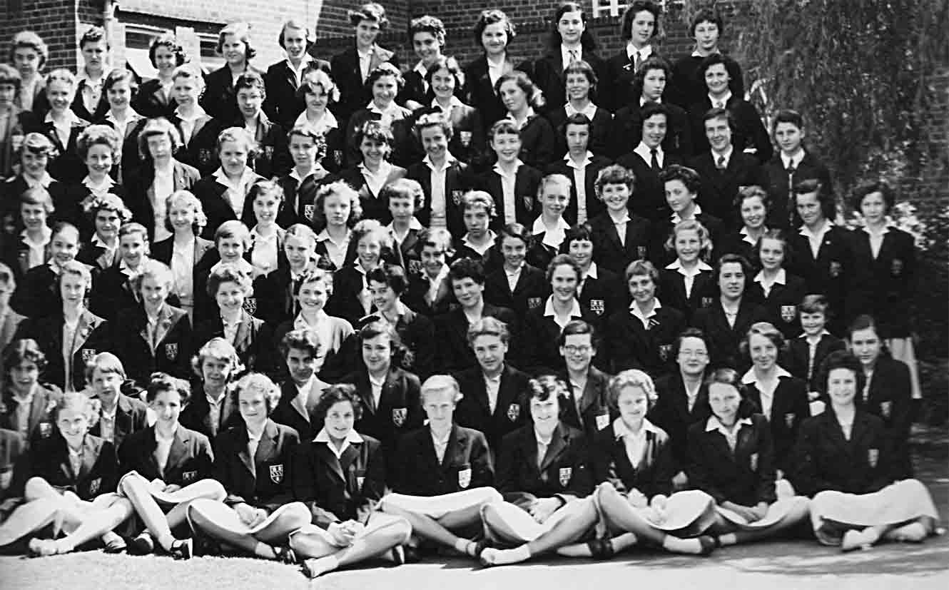 Sixth and final section of the 1957 School photograph for Copthall County Grammar School