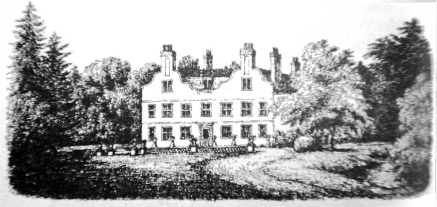 The old House of Copt Hall, Mill Hill, north London in 1868
