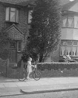 9 Brook Avenue, Edgware, Middlesex, England in the late 1940s.