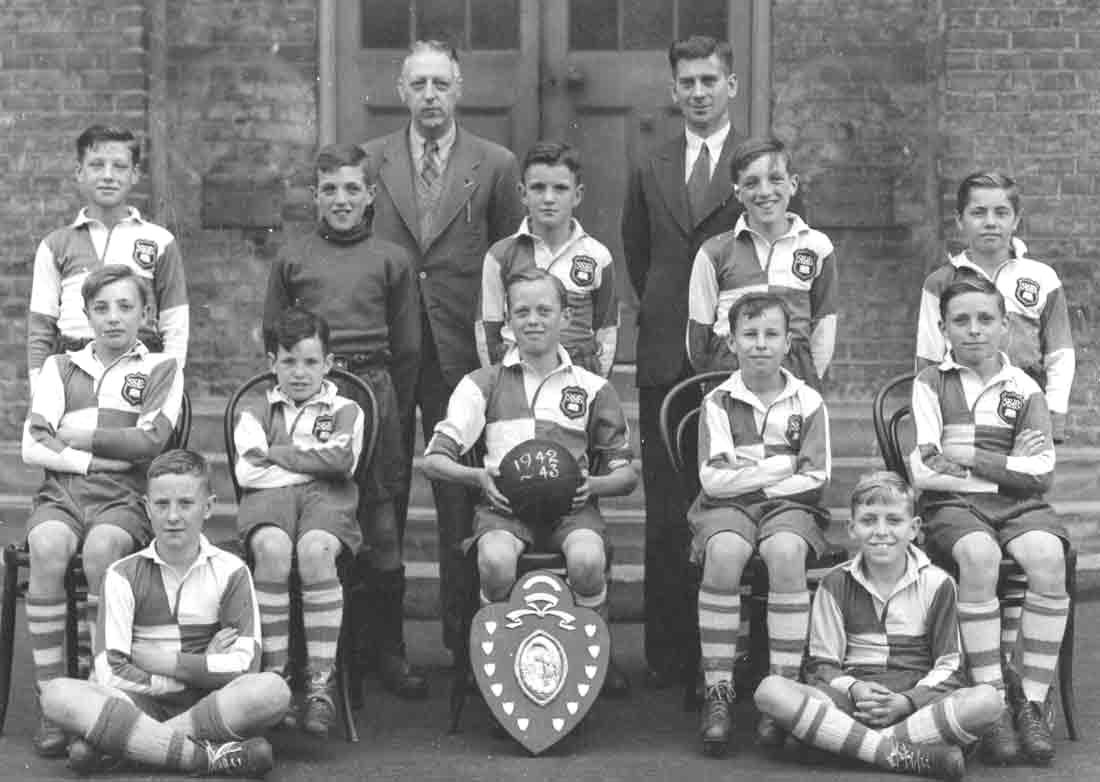1942/43 football team at Silver Street School, Edmonton