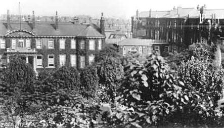 North Middlesex Hospital, during World War One, a Military Hospital.