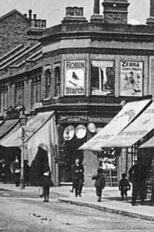 The hardware shop /ironmongers, known as the 'oil shop' in Silver Street, old Edmonton, early 1900s