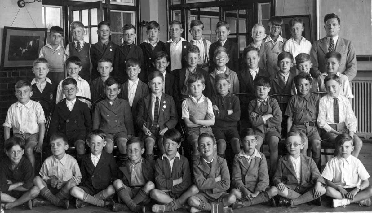 Class in Silver Street School, Edmonton, UK, 1933