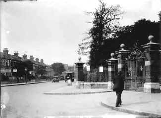 Entrance to Pymmes Park, old Edmonton