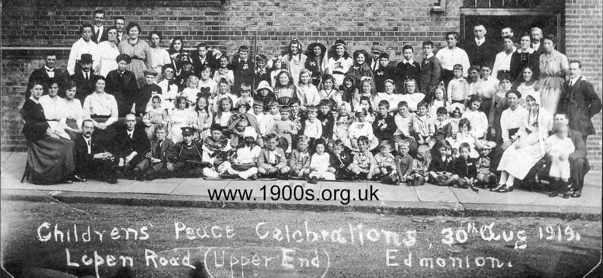 street Peace Party after WW1, 1919