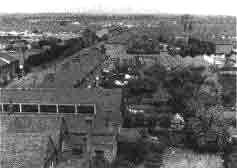 Looking north from the top of St Aldhelm's church spire, Edmonton, about 1960, thumbnail