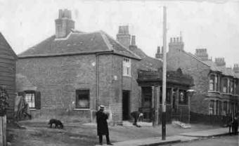 The old Bull Inn, Edmonton, before 1904.