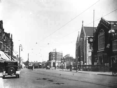 Tram Terminus, Town Hall Edmonton, early 1900s