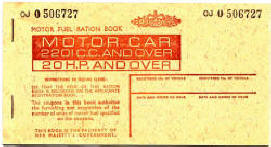 front cover of book of 1973 petrol tokens, thumbnail