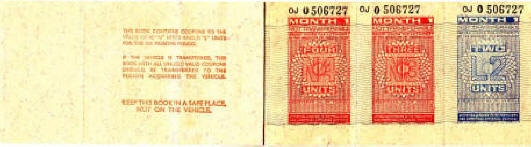 inside front cover and first page of book of 1973 petrol tokens, thumbnail