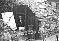 Anderson air raid shelter, World War Two