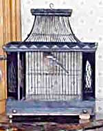 A Victorian or Edwardian birdcage