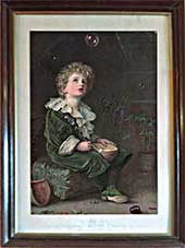 Bubbles' produced by Pears Soap to look like a large oil painting - common in houses in the early 1900s