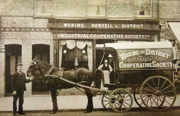 A Co-op delivery horse and cart, early 20th century