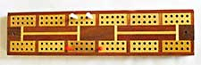 a cribbage board and the coloured pegs used to show the progress of scoring