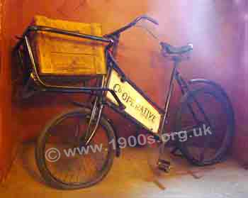 Co-op delivery bicycle, early 1900s