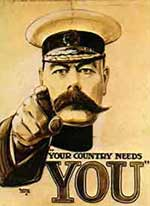 poster of General Kitchener telling people that their country needs them