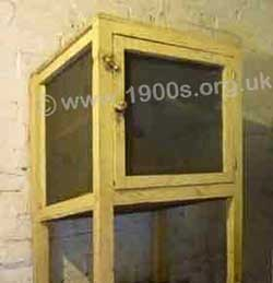 A food safe also called a meat safe, widely used in all houses before refrigeration