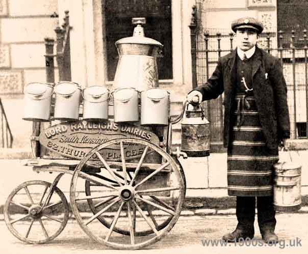 Milk Deliveries From Dairies In The Early 20th Century