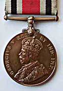 heads side of a special constable's long-serving medal in World War One