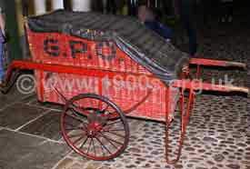 Early 1900s postman's hand cart used for delivering parcels