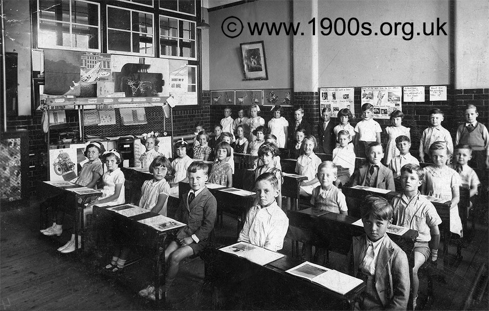 Old Style Raked School Classroom Also Known As A Tiered