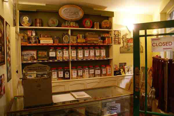 Reconstruction of inside an early 1900s sweet shop