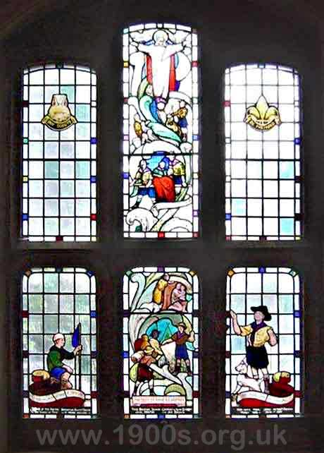 memorial window to the 2nd Edmonton scouts who fell in World War Two