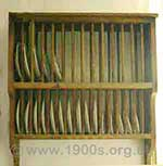 old wooden plate rack dish drainer