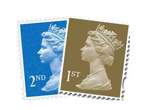 1st and 2nd class postage stamps