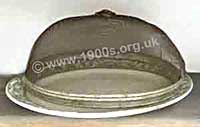 Old food cover against flies, made of metal mesh