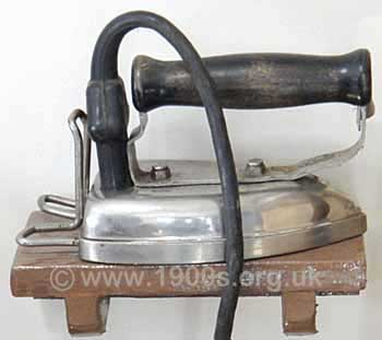 Basic electric iron, as used in 1940s England
