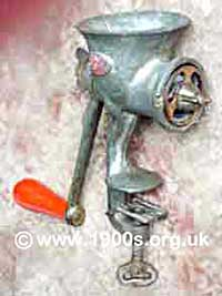 Old manual meat mincer